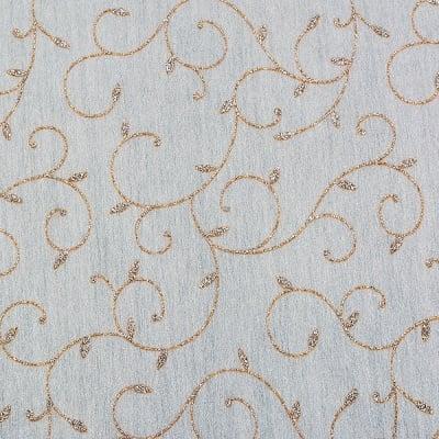 Хартия ръчна памучна, 50 g/m2, 50 x 70 cm, 1л, бяла с флорални мотиви