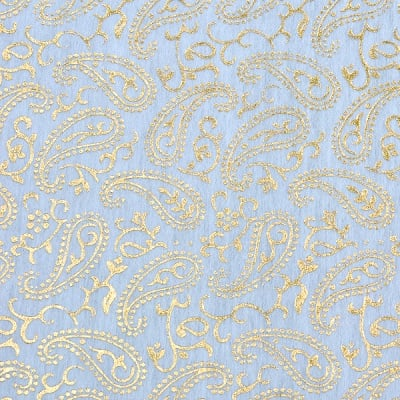 Хартия ръчна памучна, 50 g/m2, 50 x 70 cm, 1л, бяла с орнаменти