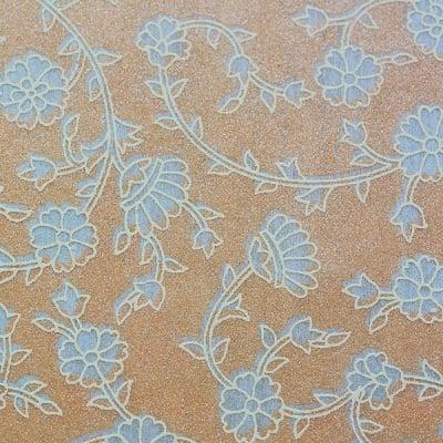 Хартия ръчна памучна, 50 g/m2, 50 x 70 cm, 1л, кремав с релефни цветя