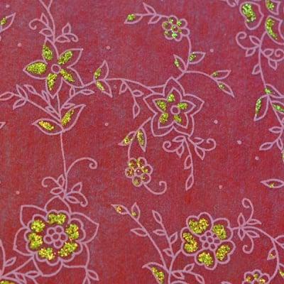 Хартия ръчна памучна, 50 g/m2, 50 x 70 cm, 1л, маслина с релефни растения