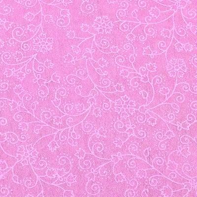 Хартия ръчна памучна, 50 g/m2, 50 x 70 cm, 1л, розов с релефни цветя