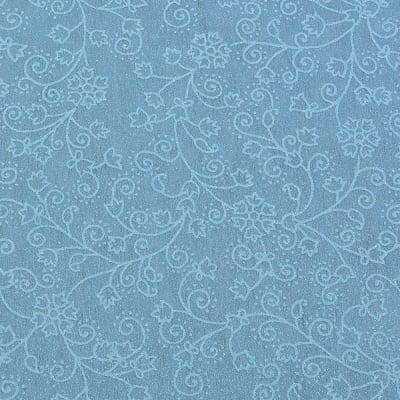 Хартия ръчна памучна, 50 g/m2, 50 x 70 cm, 1л, син с релефни цветя