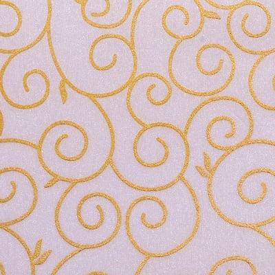 Хартия ръчна памучна, 65 g/m2, 50x70cm, 1л, кремав със златни арабески