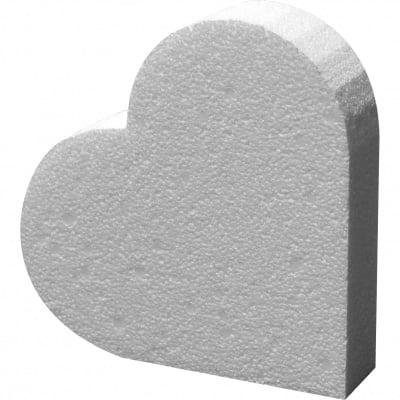 Сърце от стиропор, бял, 145 х 135 х 30 mm