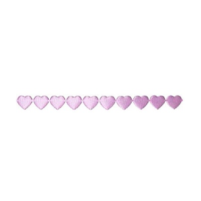 Лента с 3D мотиви, 10 mm, 2m, сърчица, светло лилава