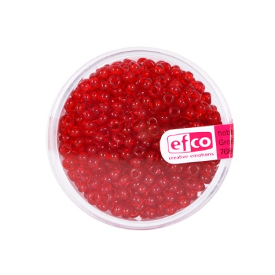 Индиански перли, прозрачни, ф 3,5 mm, ~400 бр.