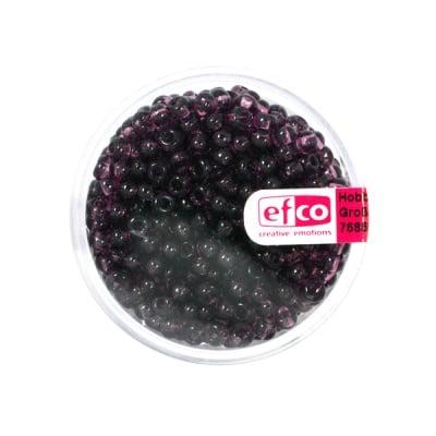 Индиански перли, прозрачни, ф 3,5 mm, ~400 бр., лилави