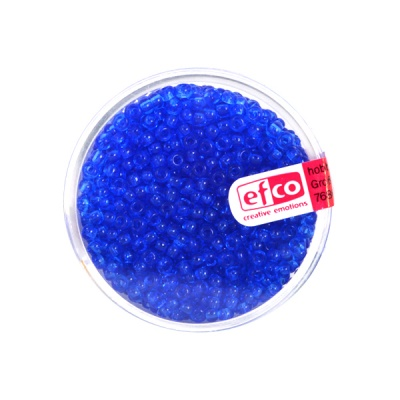 Индиански перли, прозрачни, ф 3,5 mm, ~400 бр., сини