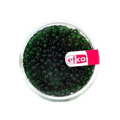 Индиански перли, прозрачни, ф 3,5 mm, ~400 бр., зелени
