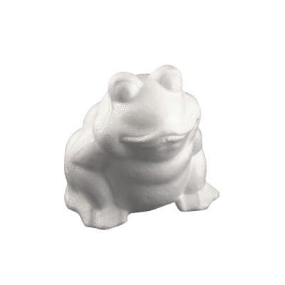 Жаба от стиропор, бял, H 130 mm