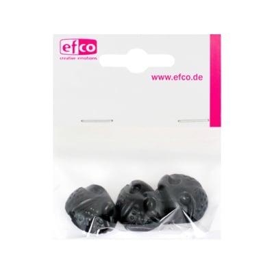 Животински нослета за лепене, ф 20 mm, 4 броя, черни