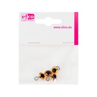 Животински очички - копчета, ф 10 mm, 4 броя, жълти