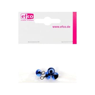 Животински очички - копчета, ф 10 mm, 4 броя, сини