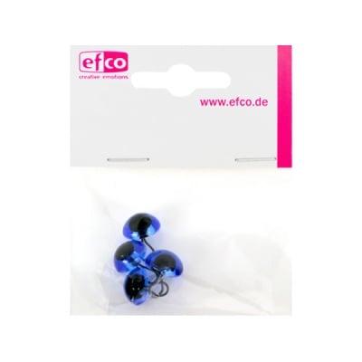 Животински очички - копчета, ф 12 mm, 4 броя, сини