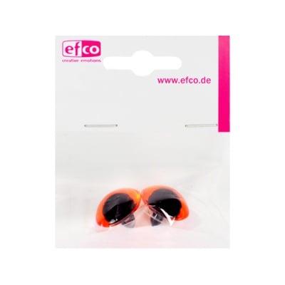 Животински очички - копчета, ф 16 mm, 2 броя, пластмаса, кафяви