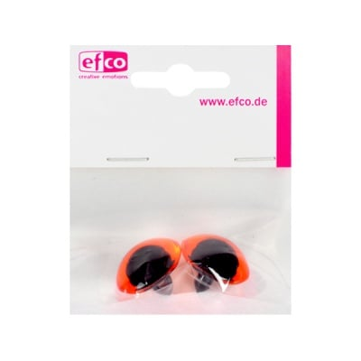 Животински очички - копчета, ф 18 mm, 2 броя, пластмаса, кафяви