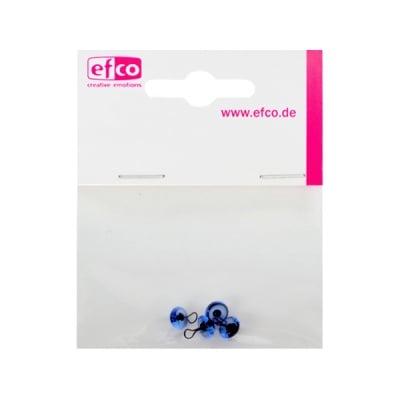Животински очички - копчета, ф 6 mm, 4 броя, сини