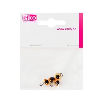 Животински очички - копчета, ф 8 mm, 4 броя, жълти
