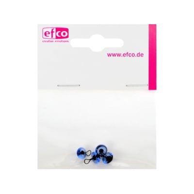 Животински очички - копчета, ф 8 mm, 4 броя, сини