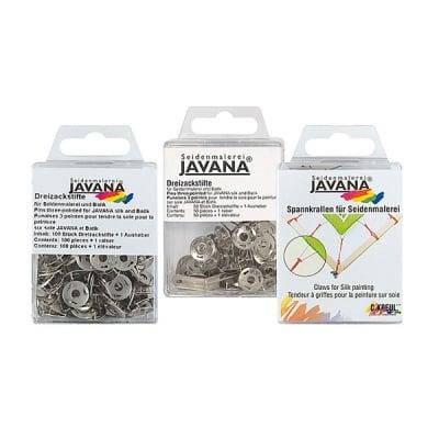 Кабъри триточкови за изпъване на коприна JAVANA