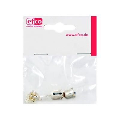 Капачки - накрайници Лале, с верижка за регулиране, 10 mm, посребрени
