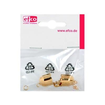 Капачки - накрайници Лале, с верижка за регулиране, 13 mm, позлатени