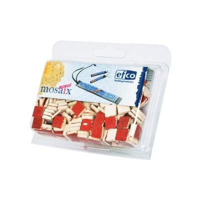 Керамични мозаечни плочки, 10x10x3 mm, глазирани, 150 бр., червени