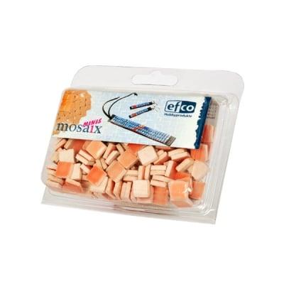Керамични мозаечни плочки, 10x10x3 mm, глазирани, 150 бр., паст.оранж