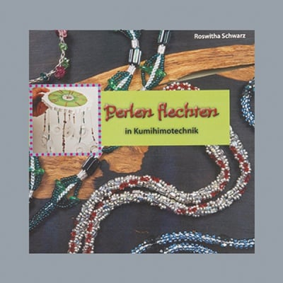 Книга на немски език, Perlen flechten, 18 x 17,5 cm, 60 страници