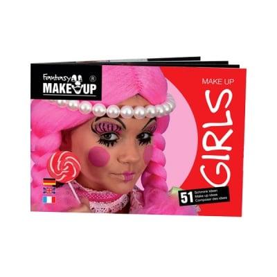 Книжка с инструкции за гримиране Schminkbuch Girls, за момичета