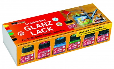 Комплект акрилен лак Hobby Line Acryl-Glanzlack Creativ-Set 6 x 20 ml