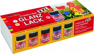 Комплект акрилен лак Hobby Line Acryl-Glanzlack Creativ XXL, 5 x 50 ml