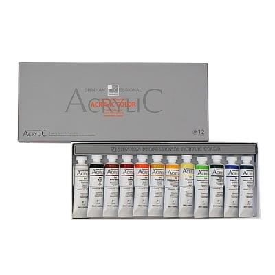 Комплект акрилни бои ARTISTS' ACRYLIC, 20 ml, 12 цв.