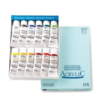 Комплект акрилни бои ARTISTS' ACRYLIC, 50 ml, 12 цв., set [A]