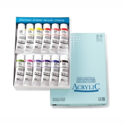 Комплект акрилни бои ARTISTS' ACRYLIC, 50 ml, 12 цв., set [B]