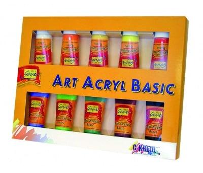 Комплект акрилни бои SOLO Goya BASIC, 100 ml, 10 цвята