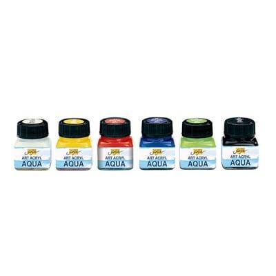 Комплект аква-акрилни бои Art Acryl Aqua, 20 ml, 6 цвята