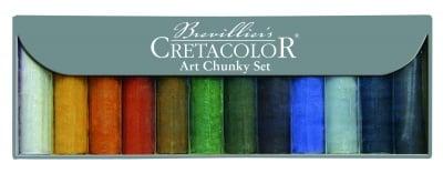 Комплект ART CHUNKY, 12 цвята въглен + графит