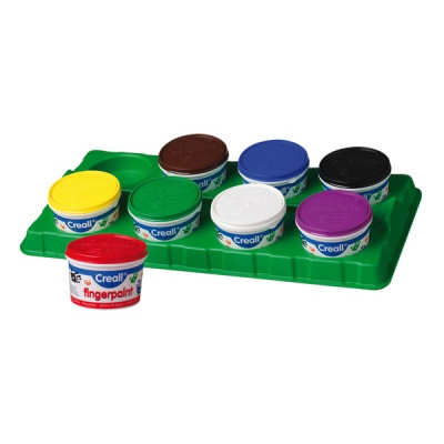Комплект боички за рисуване с ръце CREALL, 8х340 ml, картон
