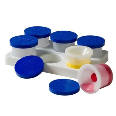 Комплект чашки за бои осигурени против разливане CREALL, 6 х 125ml