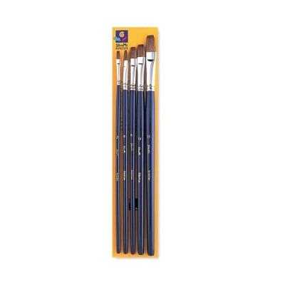 Комплект четки плоски за бои на водна основа SHAMI, Nr.2,6,8,10,15