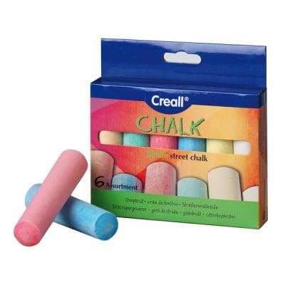 Комплект цветни дебели тебешири, 6 цвята, 6 части