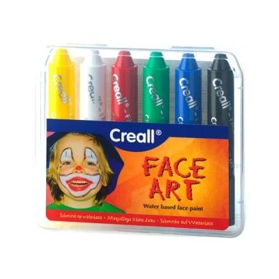Комплект цветни гримoве CREALL FaceArt 6 цвята, 6 бр.
