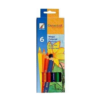 "Комплект цветни моливи CretaColor, ""MEGA"", 6 бр."