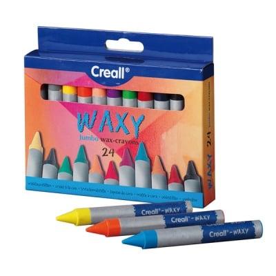 Комплект цветни восъчни пастели CREALL Waxy, 24 цвята