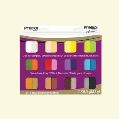 Комплект глина Premo! Accents Sculpey, 24 цвята