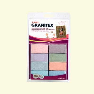 Комплект глина Sculpey III Granitex, 8 x 28g