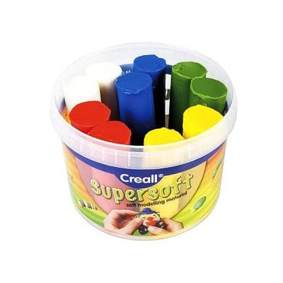 Комплект глина за моделиране CREALL Supersoft, 1750g, 5 цвята