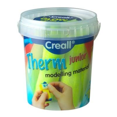 Комплект глина за моделиране CREALL Term, 500g, флуорисцентно жълто/зелен