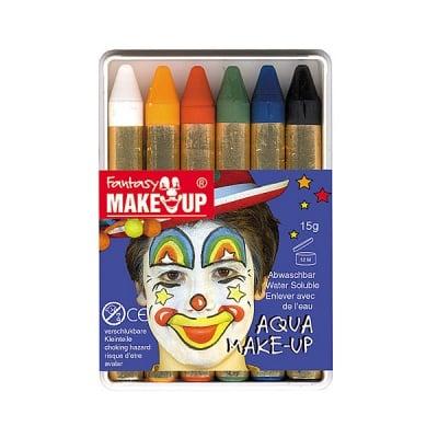 Комплект грим моливи FANTASY Aqua Make Up, 6 цвята